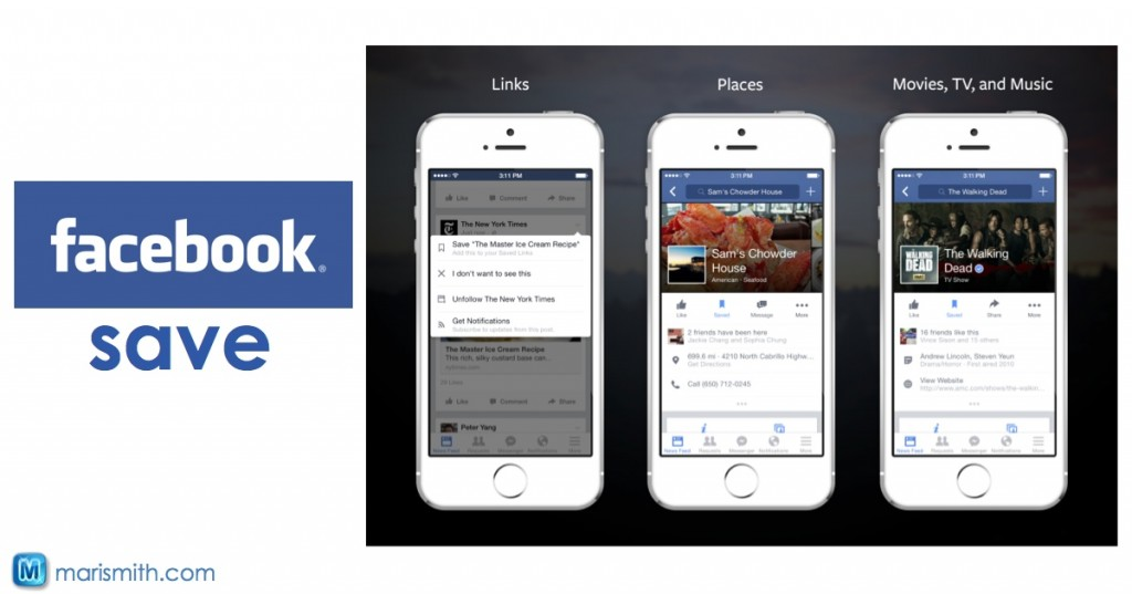 facebook save feature - link preview