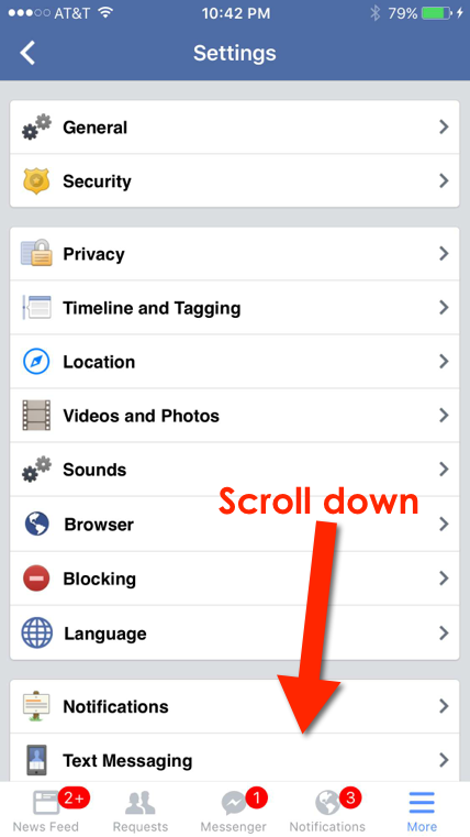 facebook app settings 3a