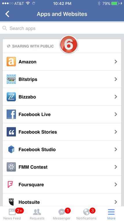 facebook app settings 5