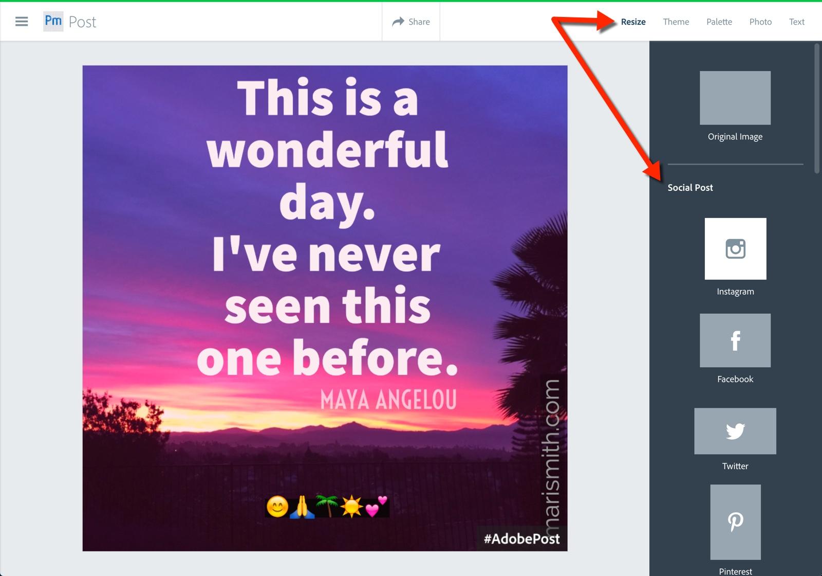 wonderful day adobe post resize
