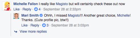 Facebook comment Magisto