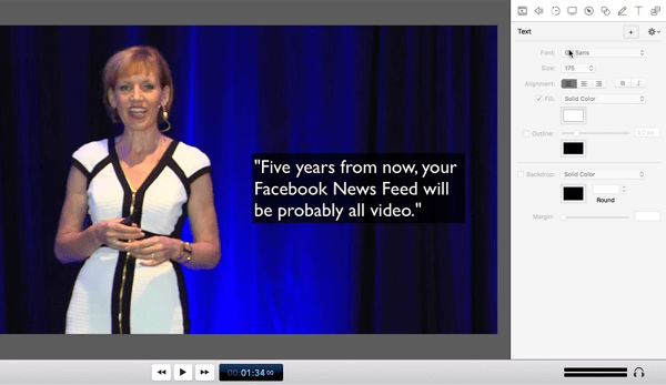 Mari Smith shares how to add text to videos
