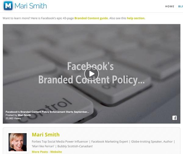 Embedding Facebook content