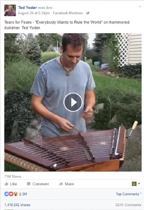 Rod Yoder Facebook live
