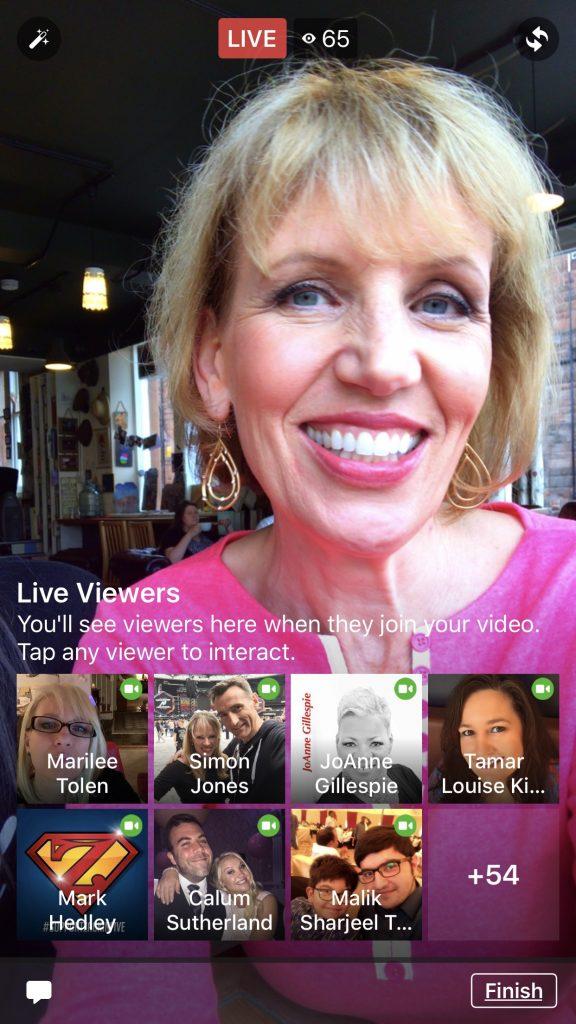 Faceebook 2-person live