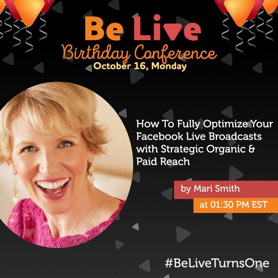 mari smith belive facebook live birthday