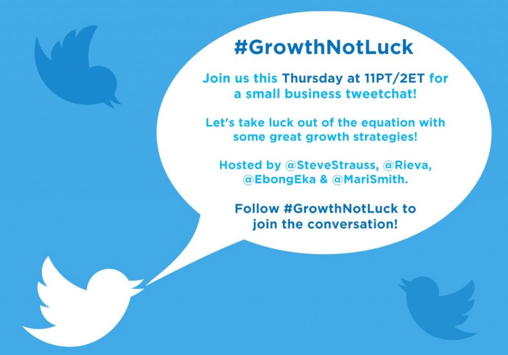 Twitter Chat GrowthNotLuck