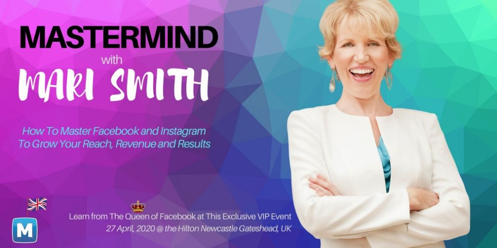 Mastermind with Mari Smith in England, UK - April 2020