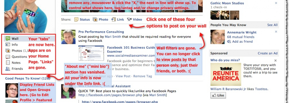 Quick Guide To The New Facebook Profile Layout [IMAGE]