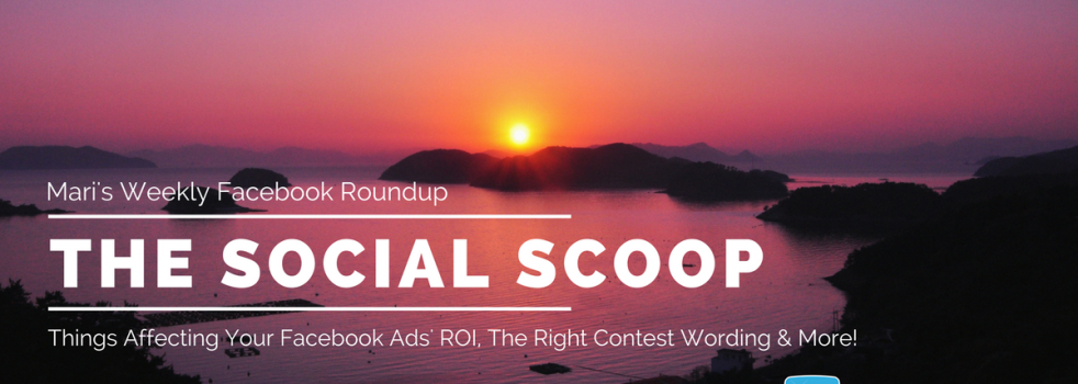 5 Things Affecting Your Facebook Ads' ROI, The Right Contest Wording & More: The Social Scoop 6/13/17