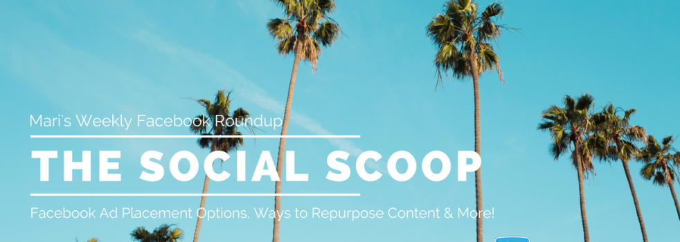 Facebook Ad Placement Options, Ways to Repurpose Content & More: The Social Scoop 6/21/17