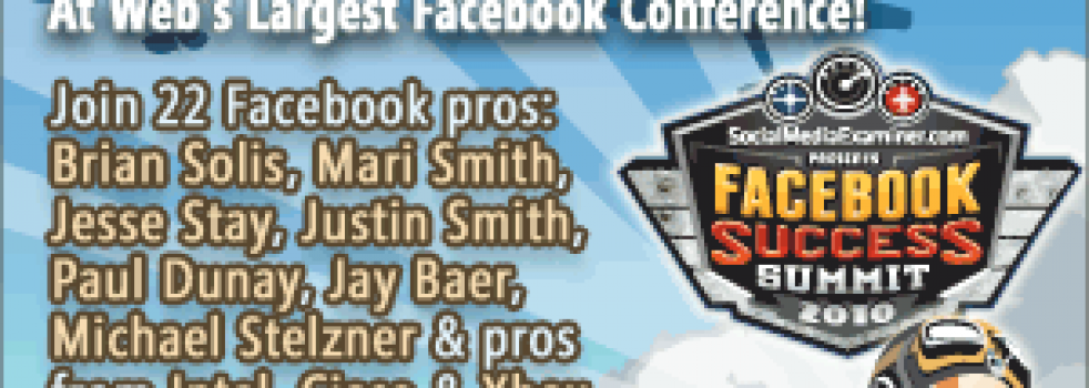 Largest Online Conference Helps You Master Facebook Marketing