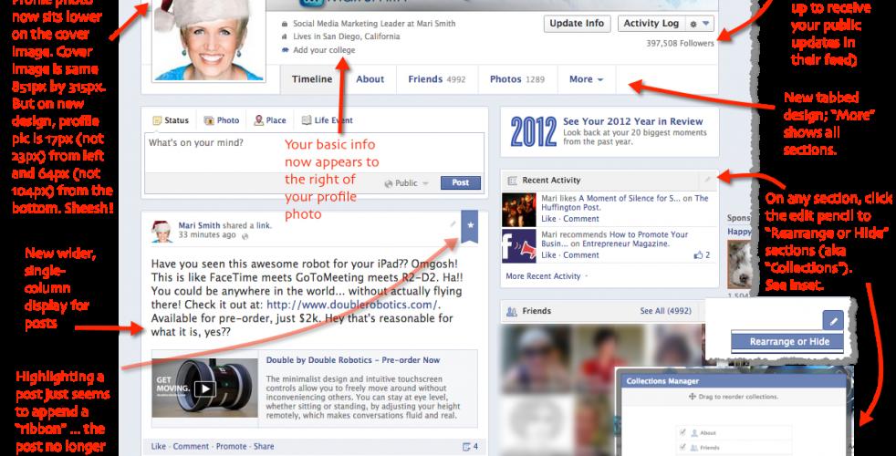 Facebook Single Column Timeline Design Rolls Out