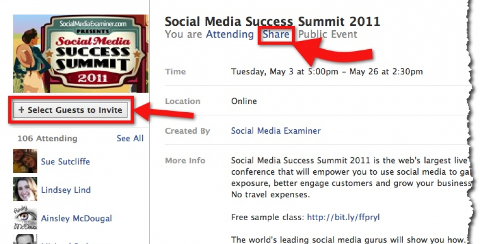 Six Ways To Effectively Promote Events on Facebook – Case Study